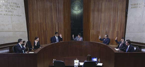 Asume funciones el nuevo pleno de la sala superior de TEPJF y elige a su presidenta