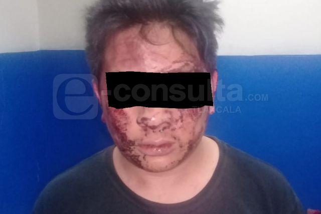 Por robo y secuestro aseguran a masculino en Chiautempan