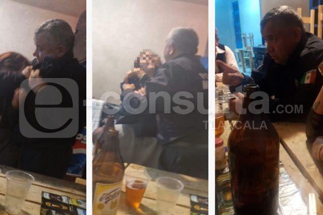 Se embriaga director de seguridad de Huactzinco y luego quiso besar a una policía