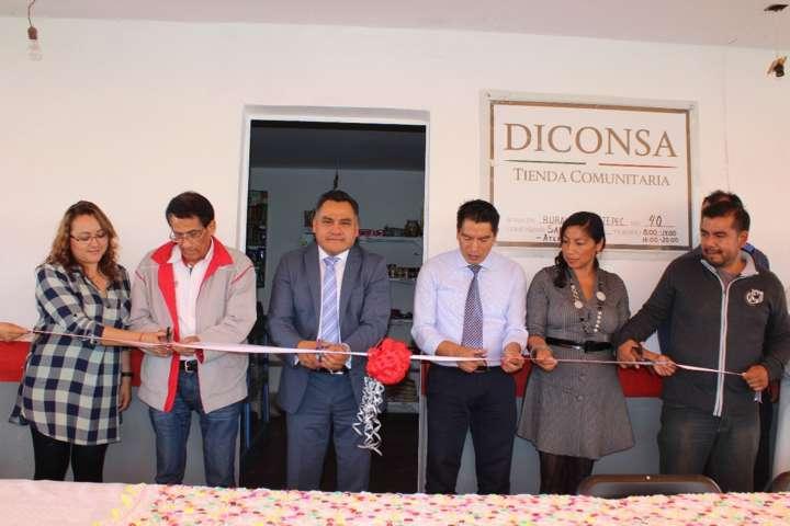 Inauguran tienda Diconsa en San Francisco Atexcatzinco