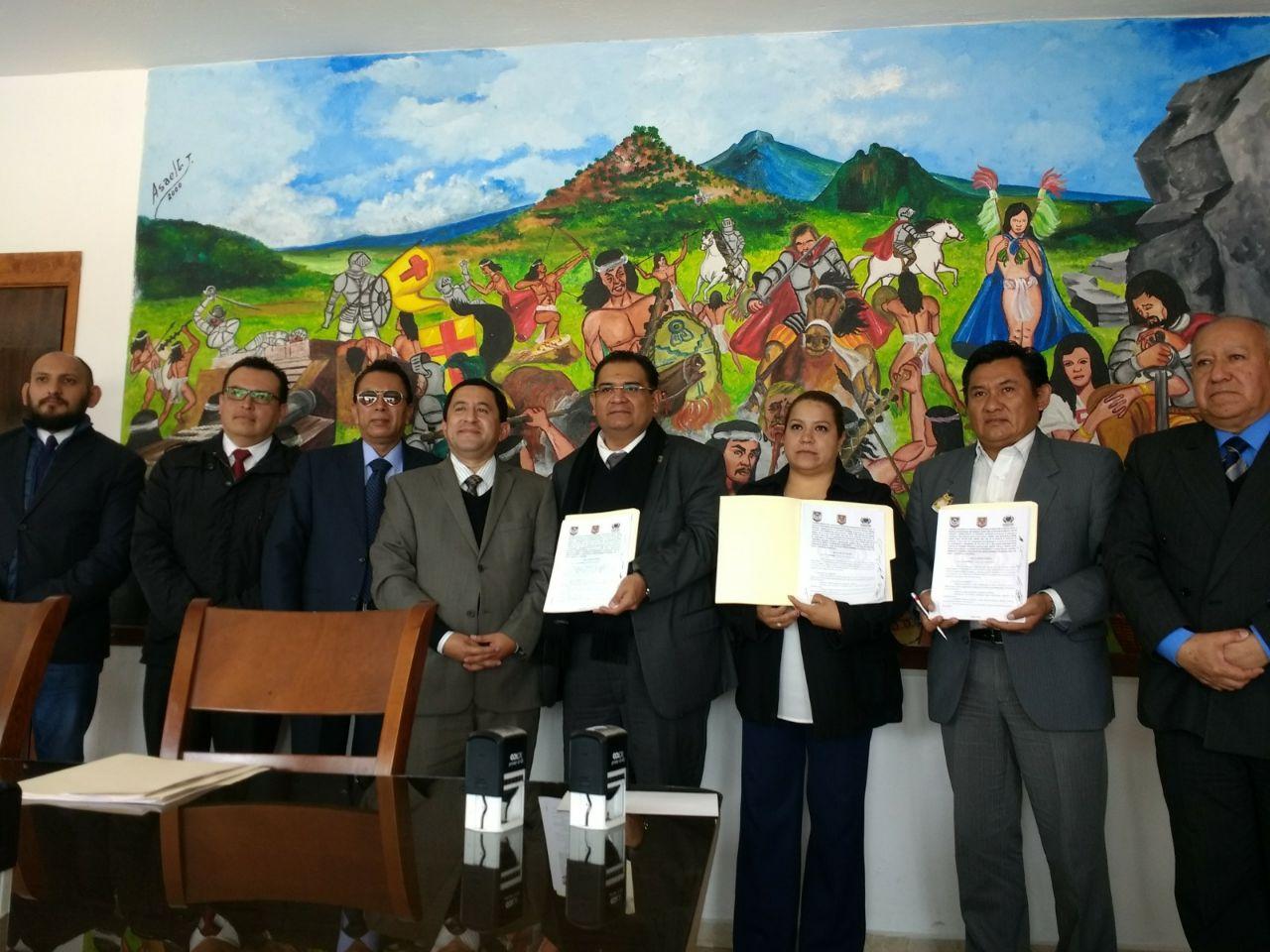 H. Ayuntamiento de Tzompantepec y UAT firman convenio