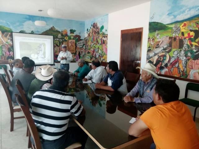 Ayuntamiento y CESAVETLAX toman medida sobre la plaga del chapulín