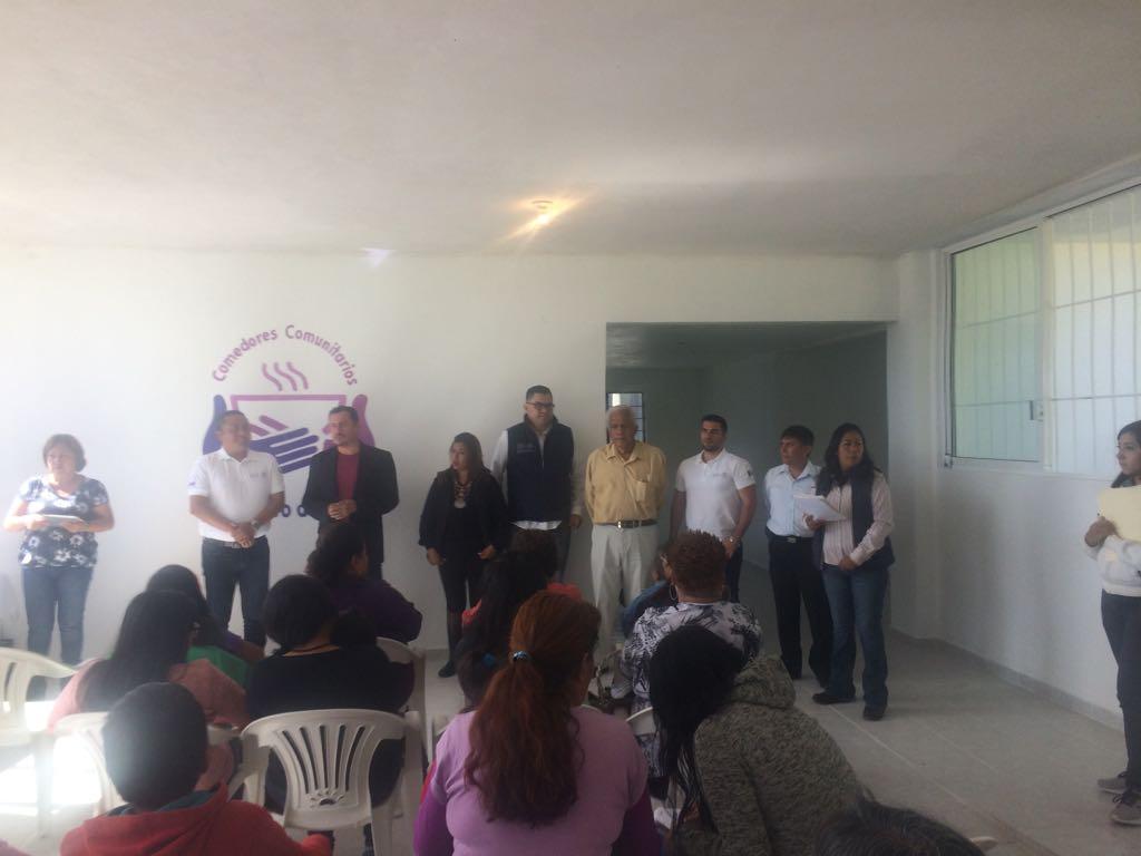 Ayuntamiento capitalino y Sedesol  equipa comedor comunitario en Acuitlapilco