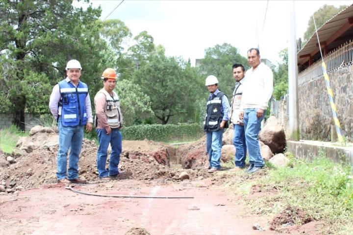 Presidente Municipal de Tetla supervisa ejecución de obra pública en el municipio