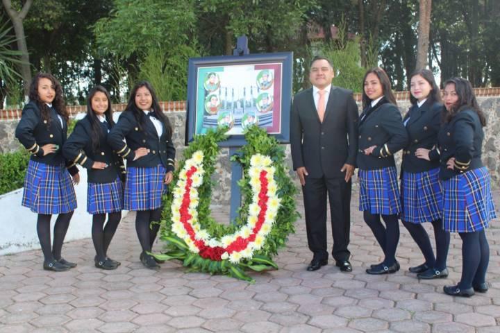 Rinden homenaje de la gesta heroica del castillo de Chapultepec en Tetla