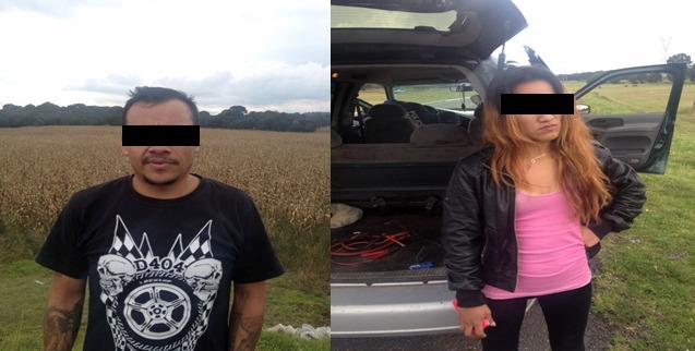 Policía de Tetla detiene a presuntos Narco Menudistas