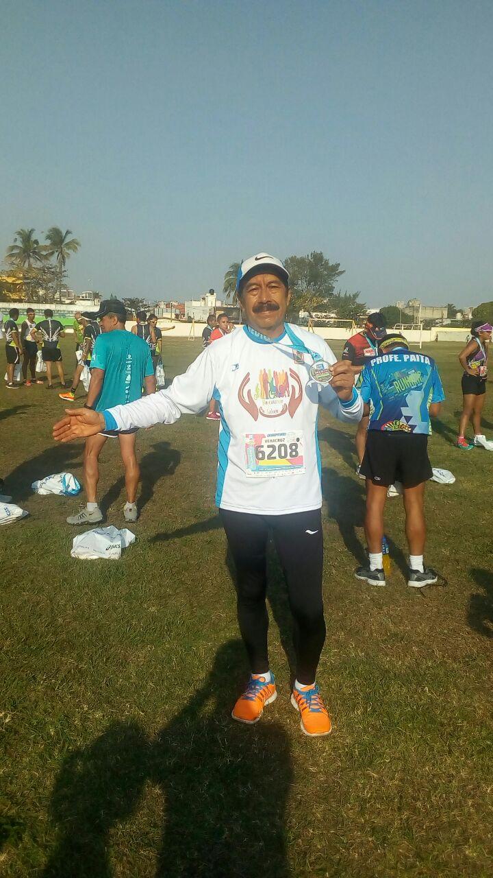 Atleta de Tzompantepec obtiene el 10 lugar en el medio maratón de Veracruz