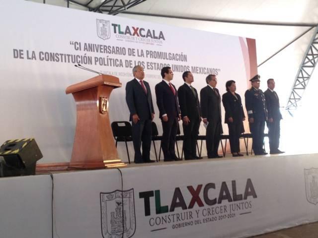 Autoridades estatales celebran 101 años de la Promulgación de la Constitución