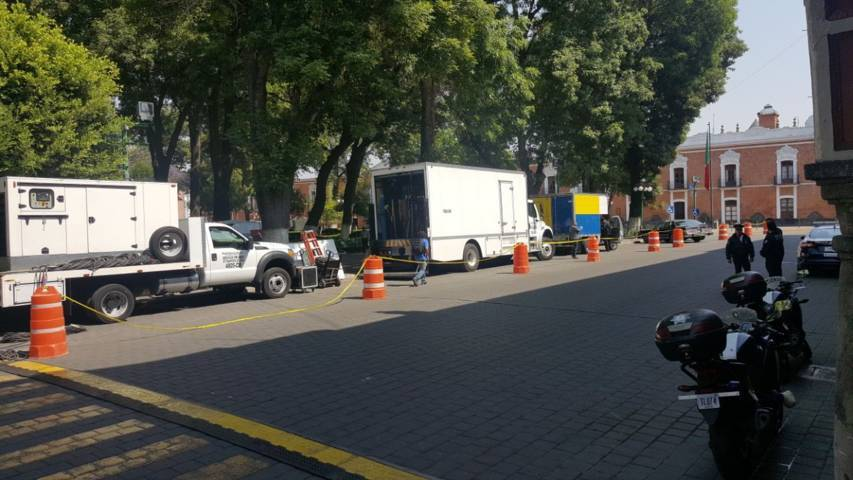 Usan a policía municipal para resguardar producción televisiva sobre Silvia Pinal