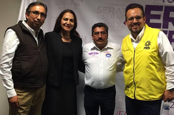 Respaldan líderes partidistas de la coalición candidatura de Lila Caritina Olvera