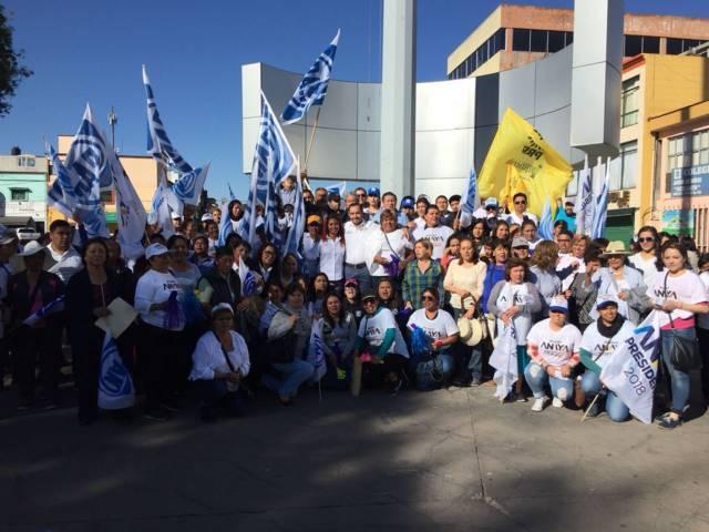 Gran aceptación de Pablo Badillo Sánchez en primeros días de campaña en Apizaco