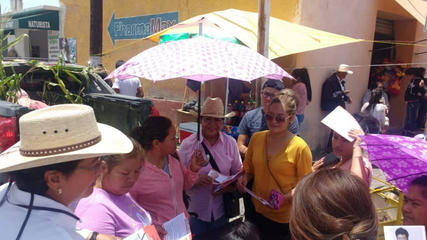 Recorre MPG Ahualulco en campaña pro Obrador
