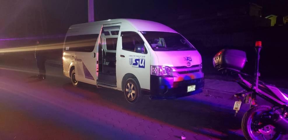 Recupera seguridad pública de Chiautempan unidad de transporte público robado