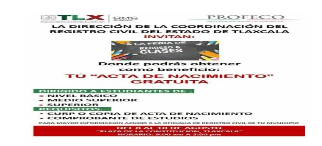 La OMG y el Ayuntamiento De Chiautempan invitan a la Feria De Regreso A Clases