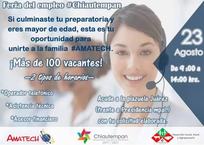 Feria del Empleo Chiautempan con Amatech