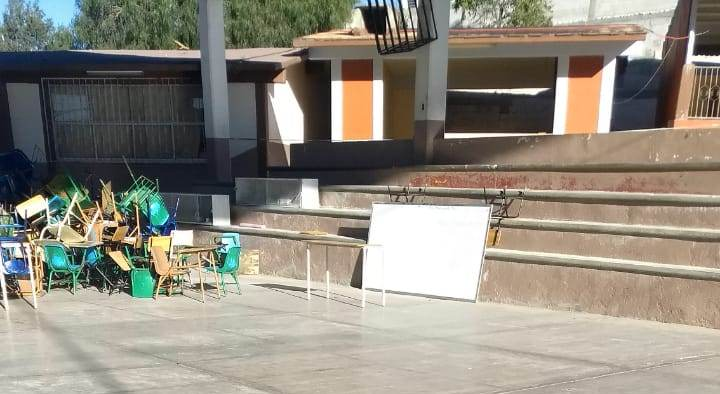 Estudiantes tlaxcaltecas siguen tomando clases al aire libre