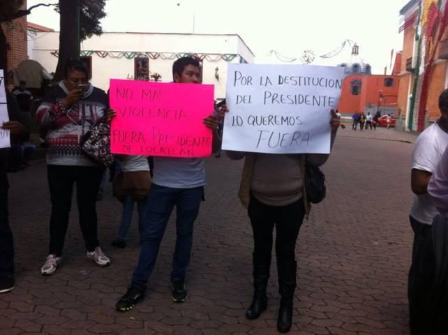 Pobladores de Tocatlán piden la destitución de su alcalde
