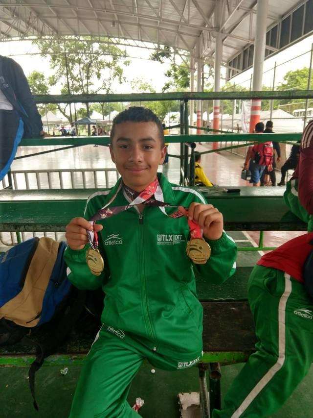 Diego Iván ganó 2 medallas de oro en la Paralimpiada Nacional en Colima