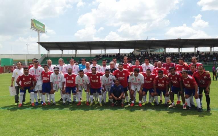 """Leyendas Del Fútbol Mexicano"" vence a ""Talentos De Tlaxcala"" en partido de exhibición"