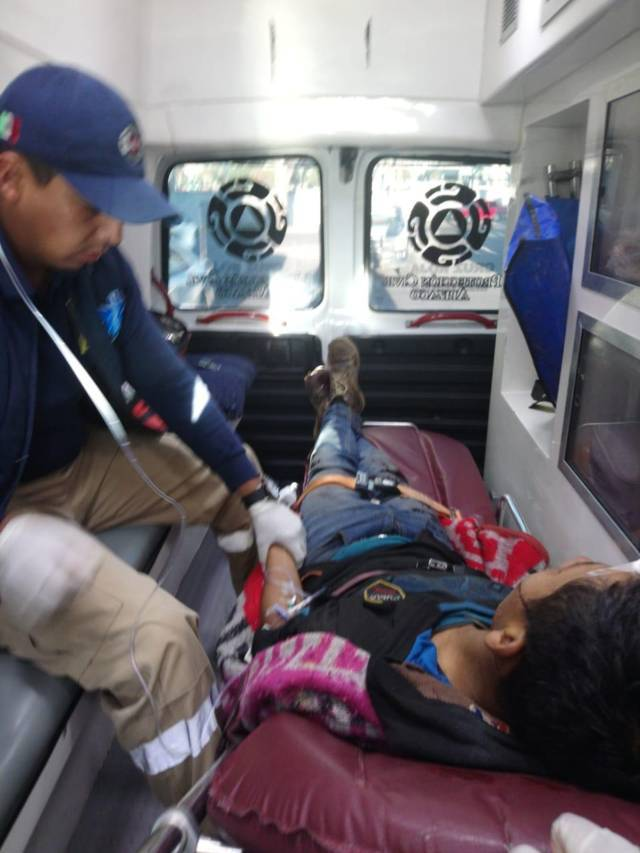Atiende y traslada PC Apizaco a migrante tras caer del tren