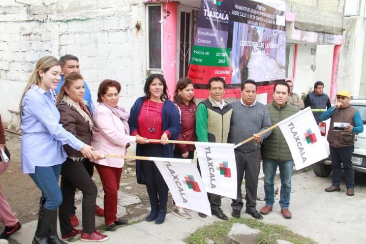 Da alcaldesa de Tlaxcala banderazo de obras en Ixtulco
