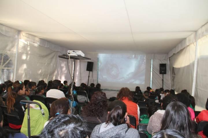 Proyectan matiné de terror en la Plaza Xicohténcatl de la capital
