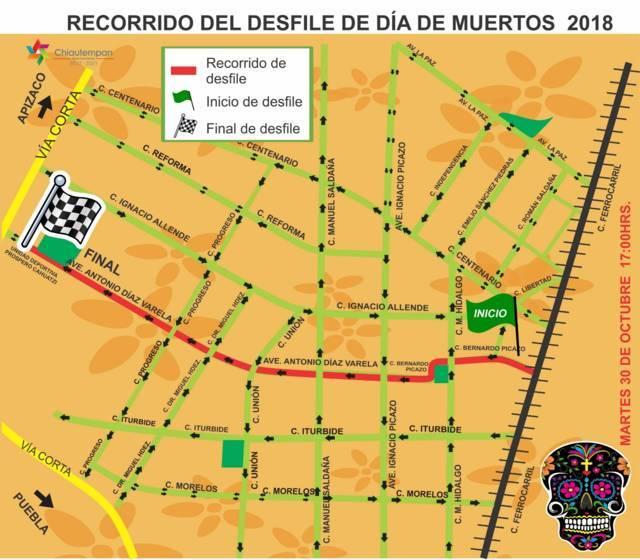 Se llevará a cabo el tradicional Desfile de Día de Muertos en Chiautempan