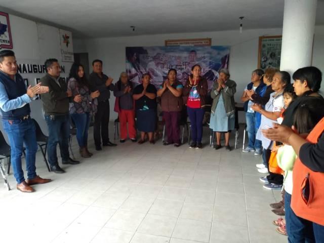 Héctor Domínguez Rugerio procura autoempleo para mujeres de Tlalcuapan