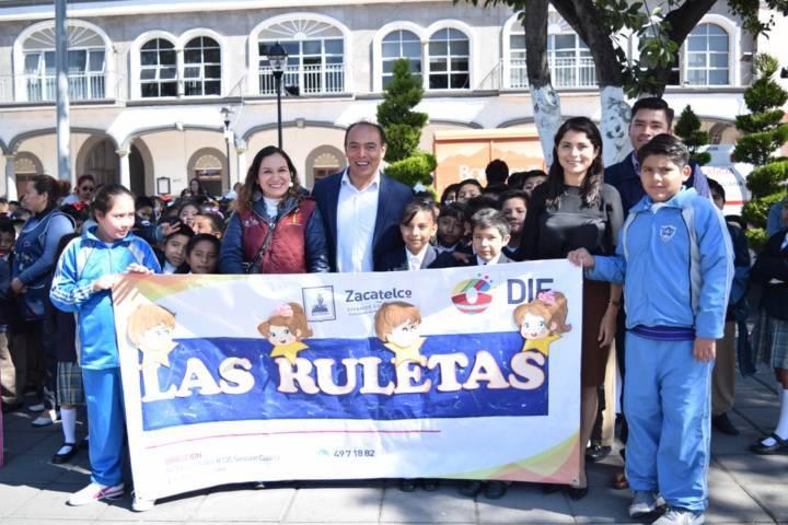 Llegó a Zacatelco el Rally de la Ruleta del Tesoro