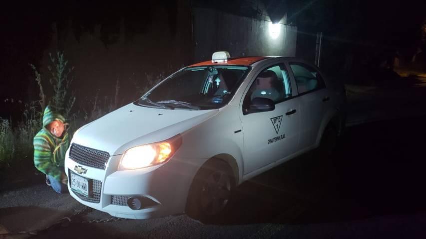 En menos de 20 minutos policías de Chiautempan recuperan taxi robado