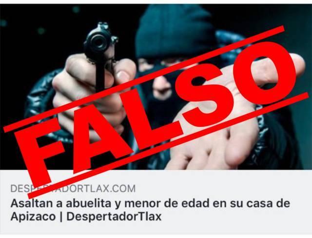 Descarta Policía de Apizaco robo a mujer de la tercera edad