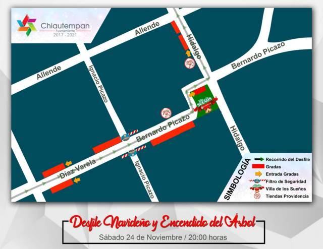Se realizará este sábado el Desfile Navideño en Chiautempan