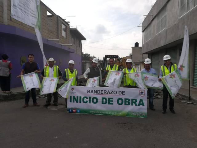 Da Héctor Domínguez banderazo de obra que beneficiará a más de 300 chiautempenses