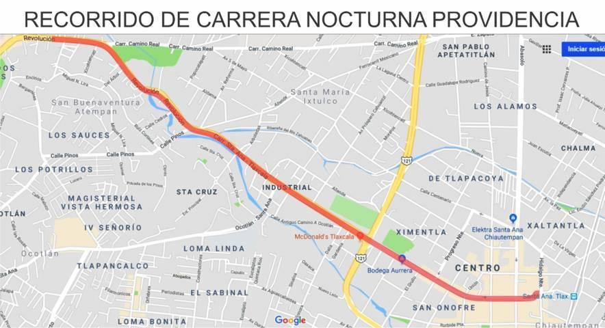 Este sábado se llevará a cabo la Carrera Nocturna Providencia