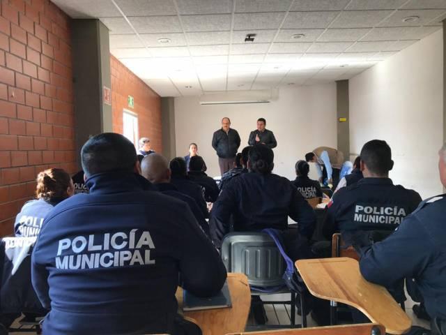 Prestaciones aseguradas para la policia de Apizaco: Alcalde