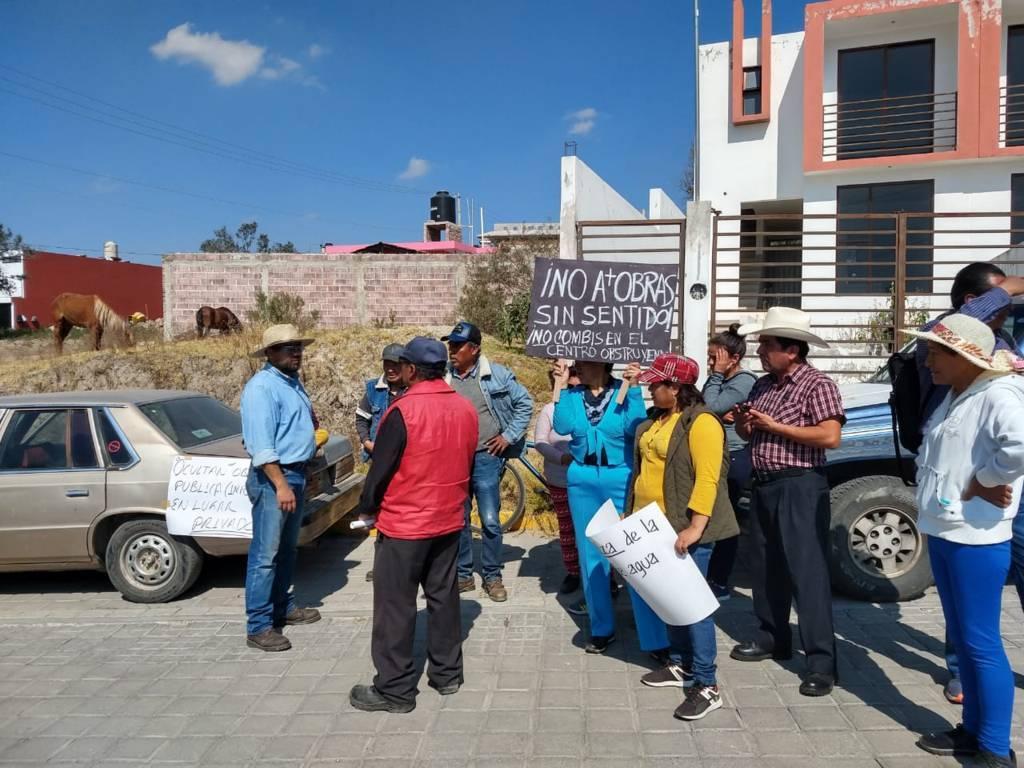 Incremento a la tarifa del agua provoca manifestación en Apizaco