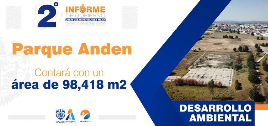 Ambicioso proyecto se realiza en Apizaco: Parque Anden