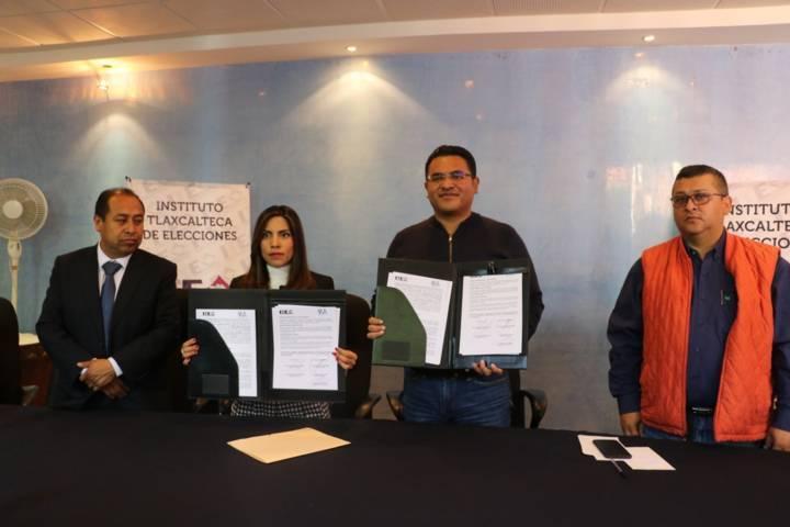 Firma alcalde de Apizaco convenio de colaboración con el ITE