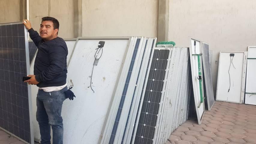 Segunda etapa de ''Apizaco brilla'': reutilización de paneles solares