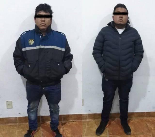 Asegura Policía de Apizaco a sujetos con autopartes