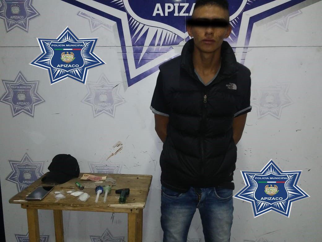 Captura Policía de Apizaco a narcomenudista