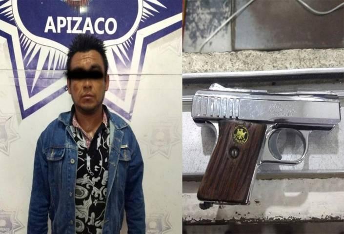 Cae poblano con arma de fuego en Apizaco