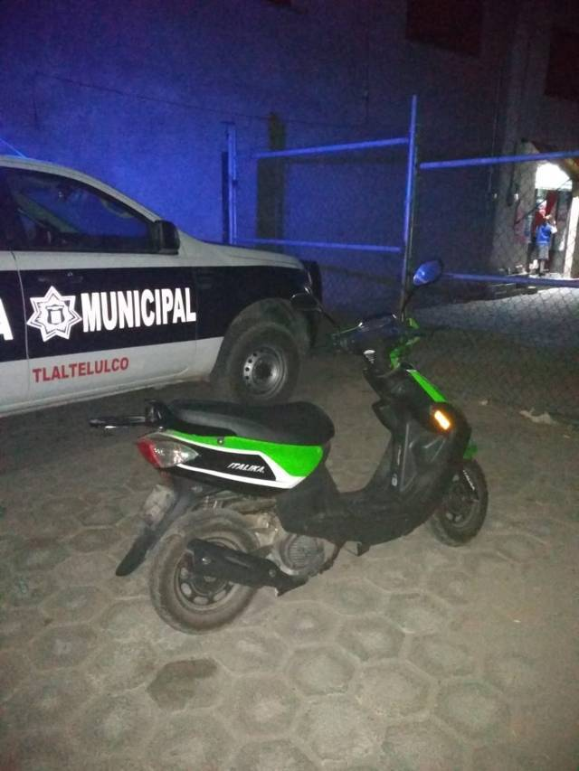 Policía Municipal recuperan motoneta con reporte de robo