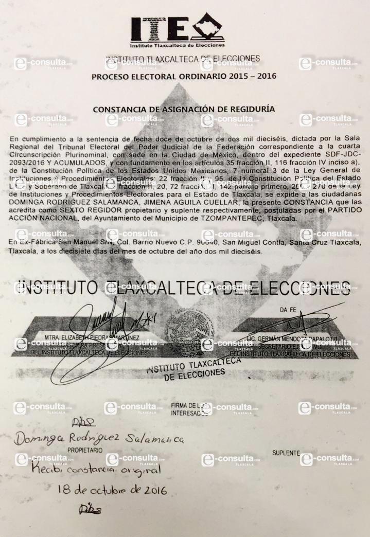 Ignorantes Zonia y El meón;  Dominga si es regidora en Tzompantepec