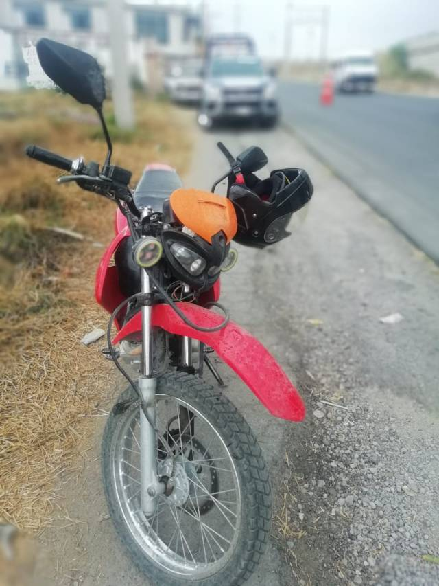 Policía de Chiautempan detiene a sujeto por posesión de Motocicleta Robada