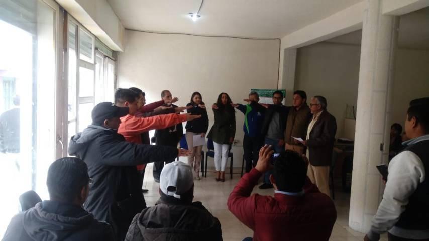Toma protesta nueva Canaco de Chiautempan