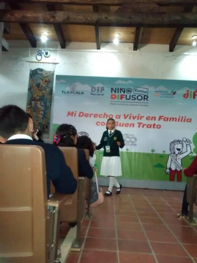 """Fátima Sánchez avanza a la final del concurso estatal de """"Niño Difusor 2019"""""""