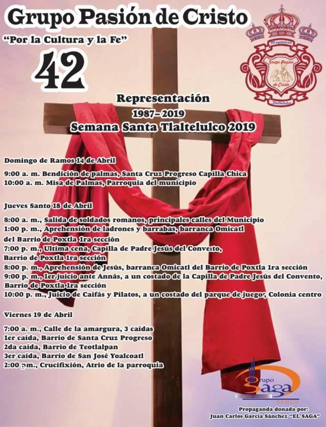 """La """"pasión y muerte de Jesucristo"""" llegara este 18 y 19 a Tlaltelulco"""