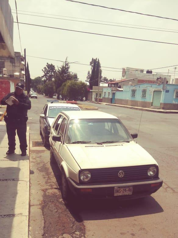 Recupera Policía de Apizaco vehículo que fue robado en Puebla