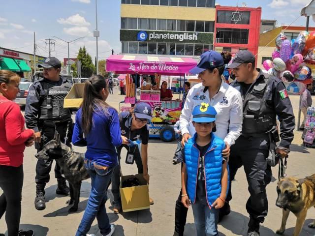 """Celebran Prevención del Delito y """"Escuadrón K-9"""" a la niñez de Apizaco"""
